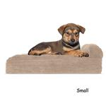View Image 2 of FurHaven Faux Fleece & Corduroy Chaise Lounge Orthopedic Sofa Dog Bed - Sandstone