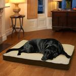 View Image 3 of FurHaven Faux Sheepskin & Suede Deluxe Orthopedic Pet Bed - Espresso