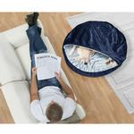 View Image 1 of Furhaven Microvelvet Snuggery Pet Bed - Navy