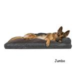 View Image 1 of FurHaven Quilted Fleece & Print Suede Lounge Pillow Sofa-Style Dog Bed - Espresso