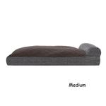 View Image 4 of FurHaven Quilted Fleece & Print Suede Lounge Pillow Sofa-Style Dog Bed - Espresso