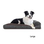 View Image 2 of FurHaven Quilted Fleece & Print Suede Lounge Pillow Sofa-Style Dog Bed - Espresso