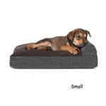 View Image 5 of FurHaven Quilted Fleece & Print Suede Lounge Pillow Sofa-Style Dog Bed - Espresso