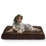 View Image 4 of FurHaven Ultra Plush Deluxe Orthopedic Pet Bed - Chocolate