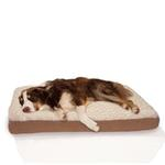 View Image 3 of FurHaven Ultra Plush Deluxe Orthopedic Pet Bed - Cream
