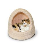 View Image 1 of FurHaven Ultra Plush Hood Pet Bed - Cream
