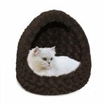 View Image 2 of FurHaven Ultra Plush Hood Pet Bed - Chocolate
