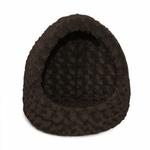 View Image 1 of FurHaven Ultra Plush Hood Pet Bed - Chocolate