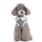 View Image 3 of Furry Houndstooth Dog Harness Coat by Dogo - Black