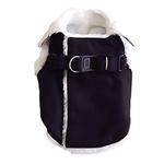 View Image 4 of Furry Winter Dog Harness Coat by Dogo - Black