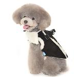 View Image 2 of Furry Winter Dog Harness Coat by Dogo - Black