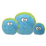View Image 1 of Duraplush FuzzBall Dog Toy by Cycle Dog - Blue and Green