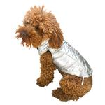 View Image 1 of Gallactica Quilted Dog Coat - Silver