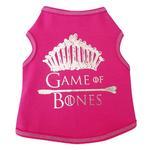 View Image 1 of Game of Bones Dog Tank - Hot Pink