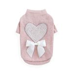 View Image 1 of Pearl Heart Dog Sweater by Hello Doggie - Pink