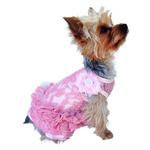 View Image 1 of Garden Party Tutu Dog Dress by The Dog Squad - Pink