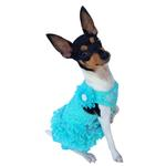 View Image 1 of Garden Party Tutu Dog Dress by The Dog Squad - Seafoam