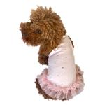 View Image 1 of Pearly Girl Tutu Dog Dress by The Dog Squad - Light Pink