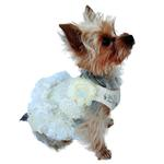 View Image 1 of Garden Party Tutu Dog Dress by The Dog Squad - Ivory