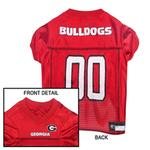 View Image 2 of Georgia Bulldogs Dog Jersey - Red