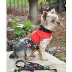 View Image 2 of Gingerbread Harness Vest with Matching Leash by Doggie Design