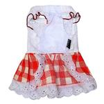 View Image 2 of Gingham Country Dog Dress by Dobaz - Red