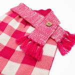 View Image 5 of Gingham Dog Sweater Dress by Dogo - Pink