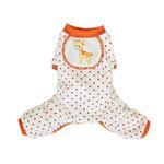 View Image 1 of Giraffe Dog Pajamas - Orange