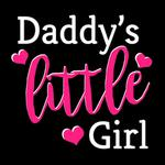 View Image 2 of Daddy's Little Girl Dog Hoodie - Black