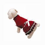 View Image 2 of Glamourous Reds Layered Knit Dog Dress by Klippo
