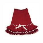 View Image 1 of Glamourous Reds Layered Knit Dog Dress by Klippo