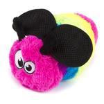 View Image 3 of goDog Bugs Bee Tough Plush Dog Toy - Rainbow