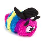 View Image 1 of goDog Bugs Bee Tough Plush Dog Toy - Rainbow