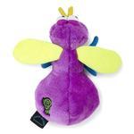 View Image 3 of goDog Bugs Fly Tough Plush Dog Toy - Purple