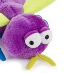View Image 5 of goDog Bugs Fly Tough Plush Dog Toy - Purple