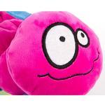 View Image 3 of goDog Bugs Caterpillar Tough Plush Dog Toy - Pink