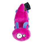 View Image 4 of goDog Bugs Caterpillar Tough Plush Dog Toy - Pink
