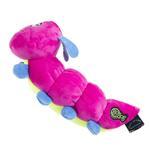 View Image 2 of goDog Bugs Caterpillar Tough Plush Dog Toy - Pink