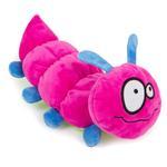 View Image 1 of goDog Bugs Caterpillar Tough Plush Dog Toy - Pink