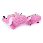 View Image 2 of goDog Checkers Flying Pig Dog Toy