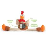 View Image 2 of goDog Checkers Rooster Tough Plush Dog Toy