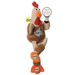 View Image 3 of goDog Checkers Rooster Tough Plush Dog Toy