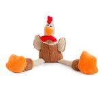 View Image 1 of goDog Checkers Rooster Tough Plush Dog Toy