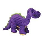 View Image 1 of goDog Dino Bruto with Chew Guard Dog Toy - Purple