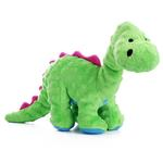 View Image 1 of goDog Dino Bruto with Chew Guard Dog Toy - Green