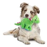 View Image 2 of goDog Dino Bruto with Chew Guard Dog Toy - Green