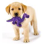 View Image 2 of goDog Dino Bruto with Chew Guard Dog Toy - Purple