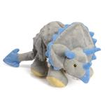 View Image 1 of goDog Dinos Chew Guard Frills Triceratops Dog Toy - Gray