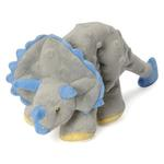 View Image 4 of goDog Dinos Chew Guard Frills Triceratops Dog Toy - Gray