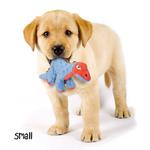 View Image 2 of goDog Spike Dino Dog Toy with Chew Guard - Blue
